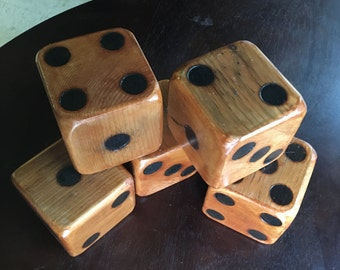 5 Giant game dice