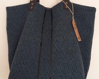 """Bag Tote """"Domitille"""", reversible bag, large bag, purse, bag to offer, leather, tote bag, hobo bag, tote bag handles"""