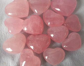 Best Rose Quartz Crystal heart/Hand Carved Rose Crystal heart(Width Size:30mm,40mm,50mm,60mm,70mm,80mm,90mm,100mm,Custom Size)