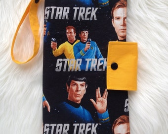 Star Trek Kirk and Spock nappy wallet/ nappy clutch for baby changes