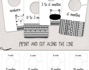 Baby closet dividers etsy for Baby clothes size organizer