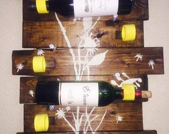Rustic/Modern Recycled Item Wine Rack