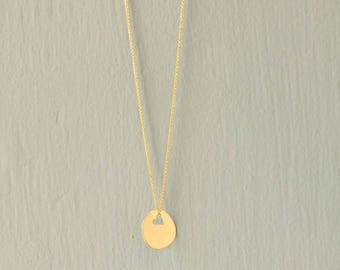 14 karat gold necklace gold pendant