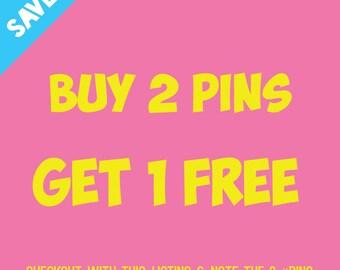 Buy 2 Lapel Pins Get 1 Free | Discounted Bundle Set