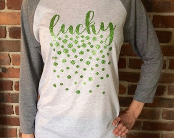 Raining Clovers Lucky shirt (custom)