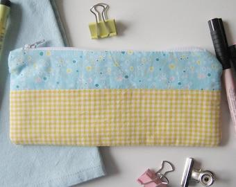 Pencil case pouch yellow Mahoney