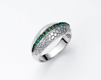 "Silver ring ""Tropics"", Chameleon ring, Animal Jewelry, Handmade jewelry"