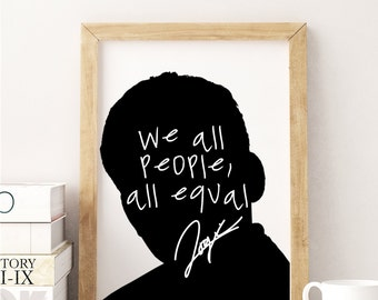 "Logic ""We All People, All Equal"" Art Print"