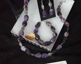Ameythst 3 piece Jewelry Set