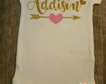 Preemie, Newborn, Toddler, Monogrammed,  Personalized, Bodysuit or Tee