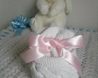 Beanie Baby newborn gift birth knitting baby wool and cotton handmade