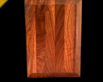 "Walnut Wood Award Wall Plaque 10""x 14"" x .75"" - Raised Panel Style - Wagler Awards"