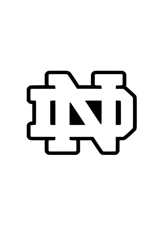 Notre Dame University Fightin Irish Logo Outline By