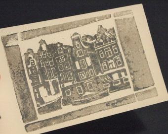 Amsterdam print- block print