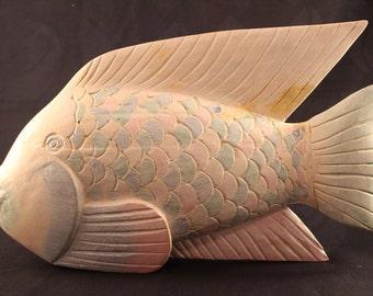 Fish Statue Beautiful Hand Painted