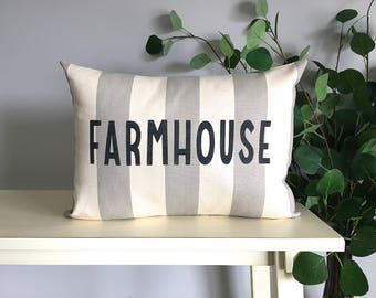 Farmhouse Pillow, Decorative Pillow, Rustic Home Decor, Accent Pillow