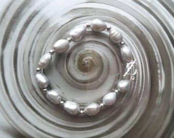 Baroque Pearl Beaded Bracelet,Freshwater Natural Pearl Beads,Pearl Beads,Gemstone Beads---10-11mm, Birthday, Bridal Shower