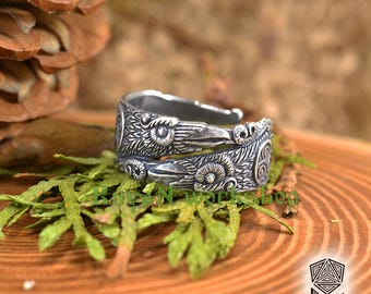 Odin Ravens ring. Viking ring. Viking Jewellery. Totem ring. Huginn and Muninn