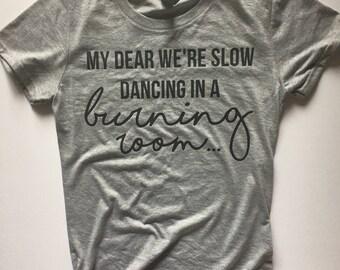 John Mayer - John Mayer t-shirt - concert tee - John Mayer shirt - Slow dancing in a burning room - concert t-shirt - Continuum - slow dance