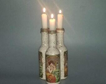 Art Deco 3 Candle Candelabra/Vase