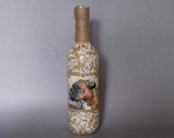 Decorated Boxer Dog Bottle