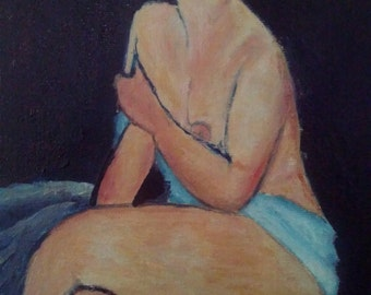 Modigliani painting replica
