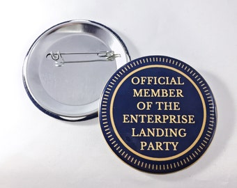 Star Trek Official Member of the Enterprise Landing Party Pin-Back Button
