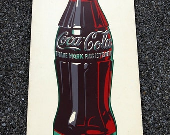 Original 1946 Coca Cola Masonite Sign, Coke Advertising