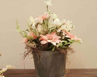 Floral Arrangement, Flower, Rustic, Country, Farmhouse, Kitchen Decor, Floral Decor, Gift, Entry, Table