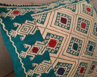 Oaxaca hand-embroidery pillow