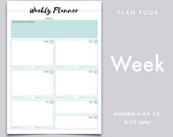 Work Planner, Weekly Planner, Weekly To Do List, Productivity Planner | A4, A5, US Letter