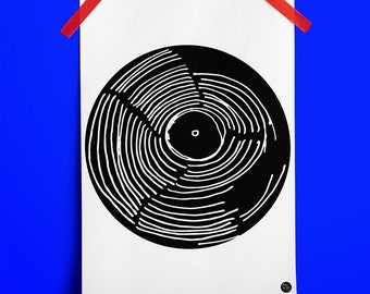 Turntable Record Wall Art Print No. 5: ideal gift for vinyl fans. (A3 Digital Print)