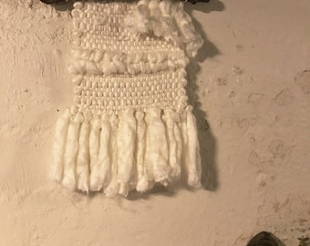 White Woven Wall Hanging
