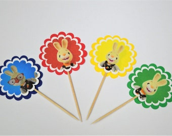Harry the Bunny Baby first TV cupcake toppers Set of 12