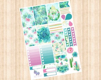 Cactus Weekly Kit // Happy Planner // Erin Condren // Personal