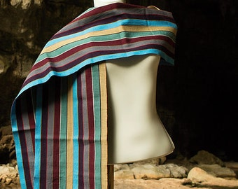"Magnificent Hand-woven ""Dulce"" Scarf from Oxchuc - Mexico"