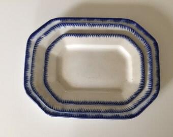 Leeds Vintage Nesting Ironware Platters