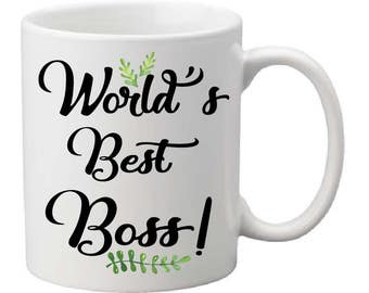 World's Best Boss coffee mug, funny coffee mug,Boss Gift for Boss, Gift for Boss, Coworker Gift for Coworker, Boss Mug Boss Coffee Mug