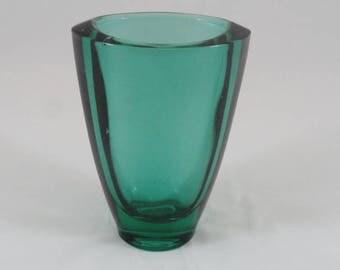 Bohemian Art glass vase by Frantisek Vizner for Union Sklo,1960's