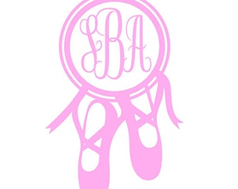 Ballet Slipper Personalized Decal