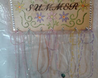personalized wood necklace hanger EXAMPLE ONLY