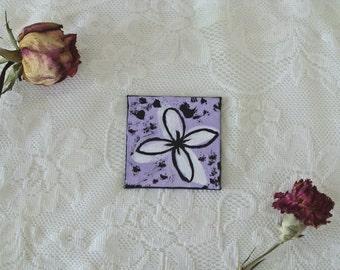 Whimsical & Decorative Pop Art Flower - Purple