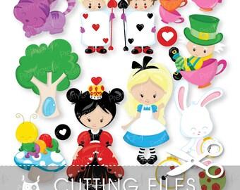 Alice Wonderland Svg Etsy