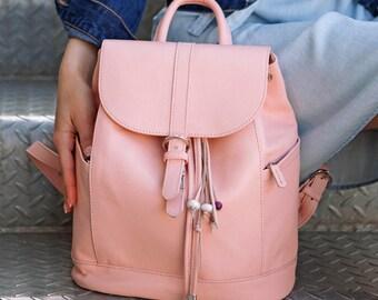 LEATHER BACKPACK - Women Backpack, school backpacks, travel bags, Leather Backpack, Womens Rucksack, Travel Bag, Gift For women, Purse