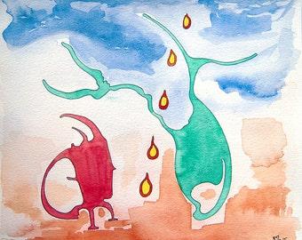 Illustration, Children Book, Unframed, Original Watercolor Painting