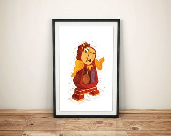 Beauty and Beast Print-Printed Beauty and Beast-Disney Belle Art-Kids Disney Belle-Disney Belle Prints- Beauty and Beast Watercolor Print