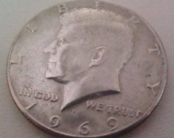 SALE 1969 Kennedy Half 40 Percent Silver (FREE SHIPPING, U.S. Only)