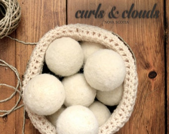 100 % Wool Dryer Balls - tumble dryer sheet alternative - natural - farm product - sheep - felted - undyed