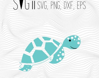 Turtle Svg, Turtle Svg Files, Turtle Tortoise Svg Files For Silhouette For Cricut, Vector Cutting Files Vinyl Decal, Monogram Svg