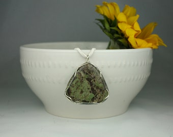 River Jasper Wire Wrapped Pendant